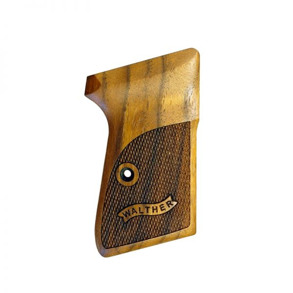 Walther Ppk/S  22 Wood Grips (Checkered With Logo)