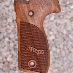 Walther P88 Wood Grips Checkered With Logo